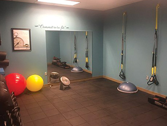 Personal Training Room at our Wellness Center